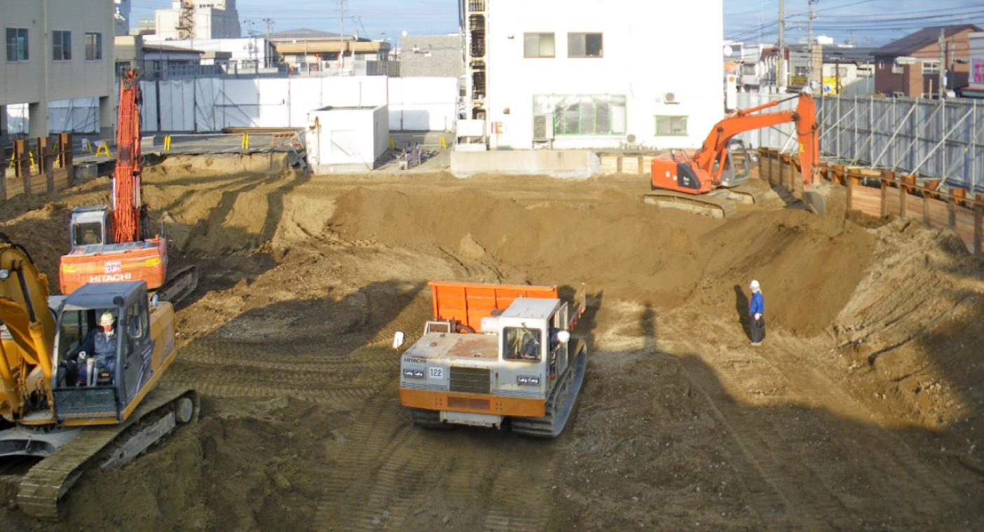 市立病院解体工事