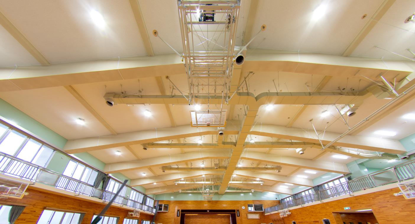 第二中学校屋内運動場天井等落下防止対策事業