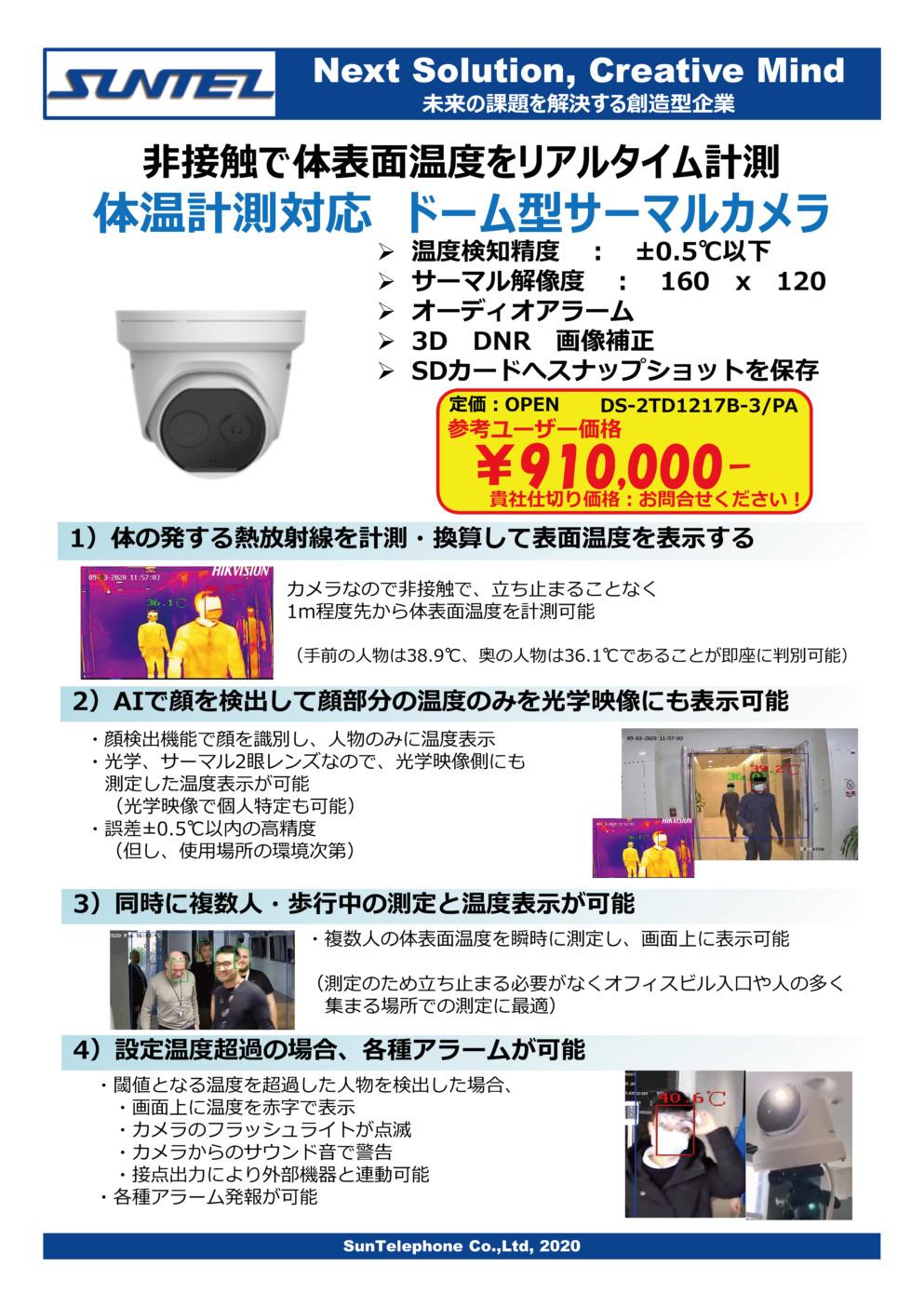 ドーム型サーマルカメラ